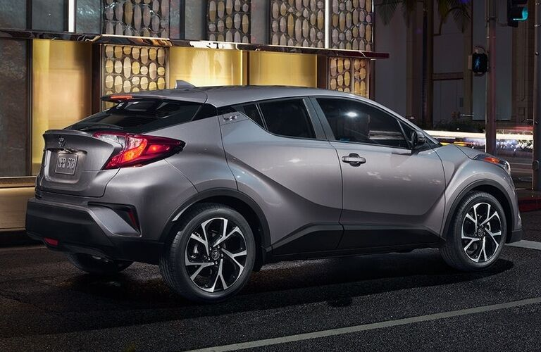 Grey 2018 Toyota C-HR parked on city street