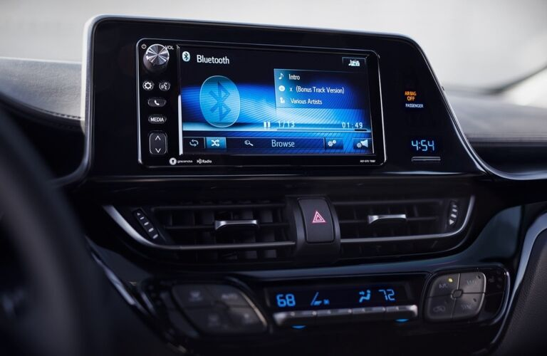 Infotainment system in the 2018 Toyota C-HR