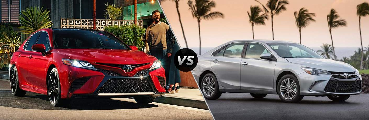 2018 Toyota Camry and 2017 Toyota Camry side by side
