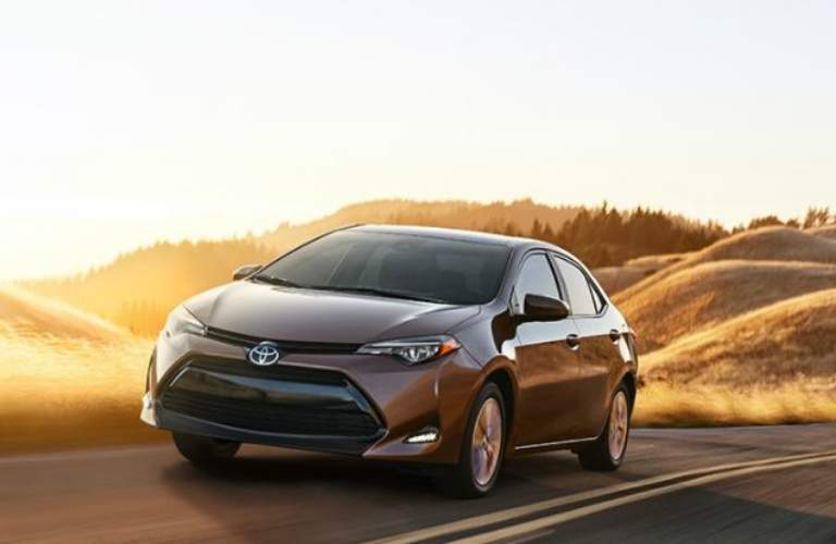 2018 Toyota Corolla driving on an open road