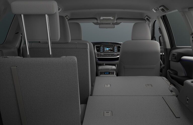 Seating and cargo arrangement in the 2018 Toyota Highlander