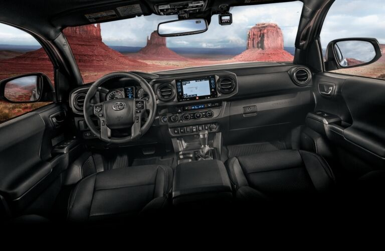 Cockpit view of the 2018 Toyota Tacoma