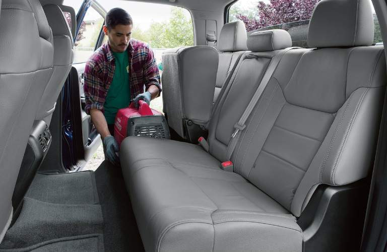 Rear seating in the 2018 Toyota Tundra