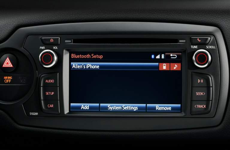 Bluetooth in the 2018 Toyota Yaris infotainment system