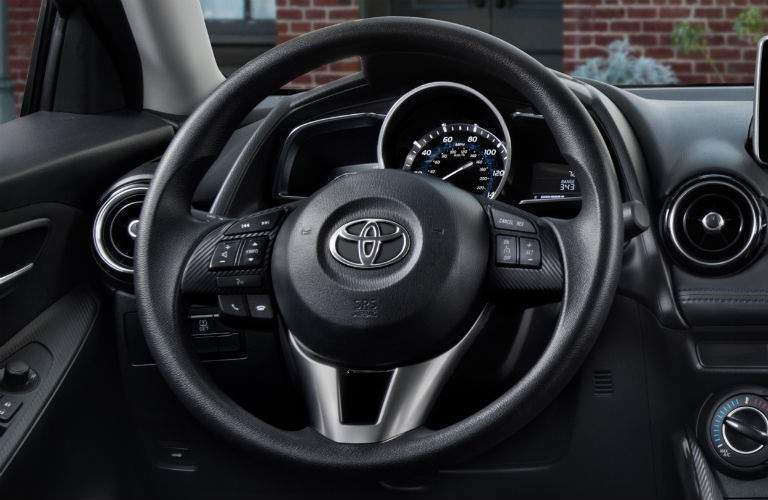 Steering wheel of the 2018 Toyota Yaris iA
