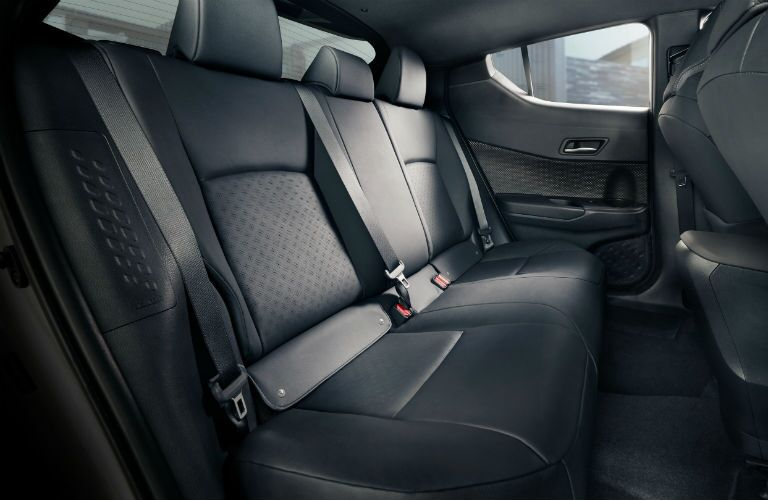 2019 Toyota C-HR back seat with black upholstery