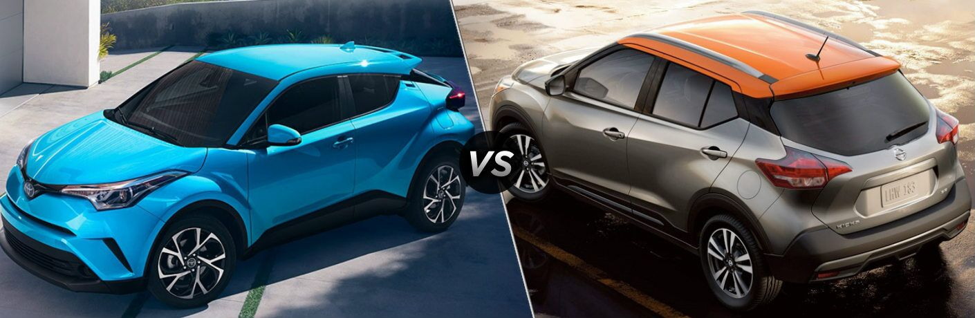 2019 Toyota C-HR and the 2019 Nissan Kicks side by side