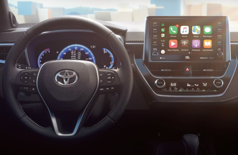 Cockpit view in the 2019 Toyota Corolla Hatchback