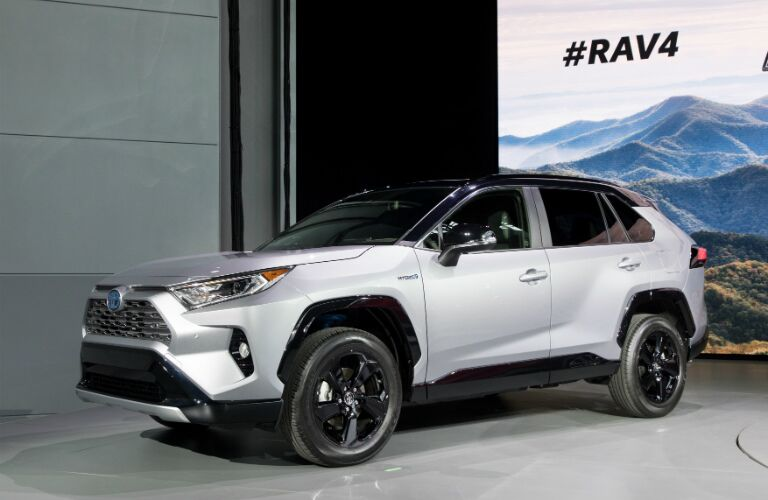 Silver 2019 Toyota RAV4 on display at NYIAS