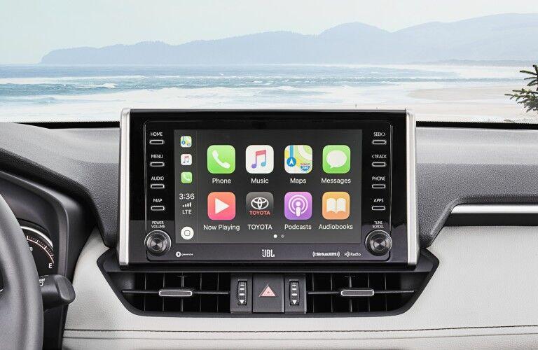 Infotainment system in the 2019 Toyota RAV4