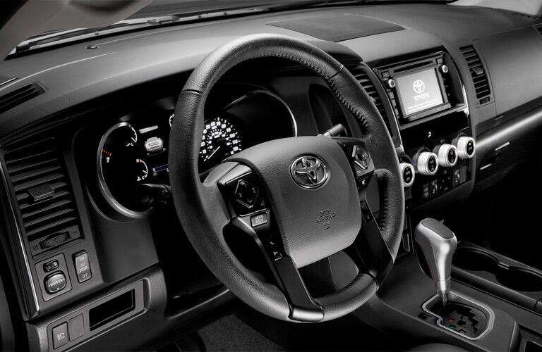 Steering wheel of the 2019 Toyota Sequoia