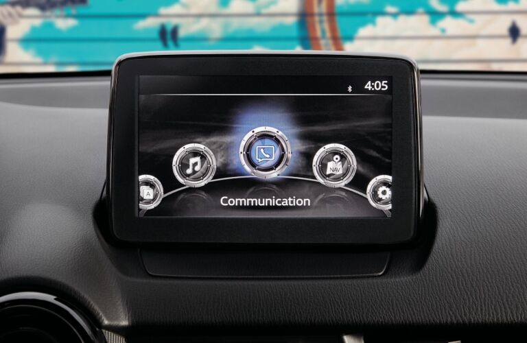 Infotainment system in the 2019 Toyota Yaris