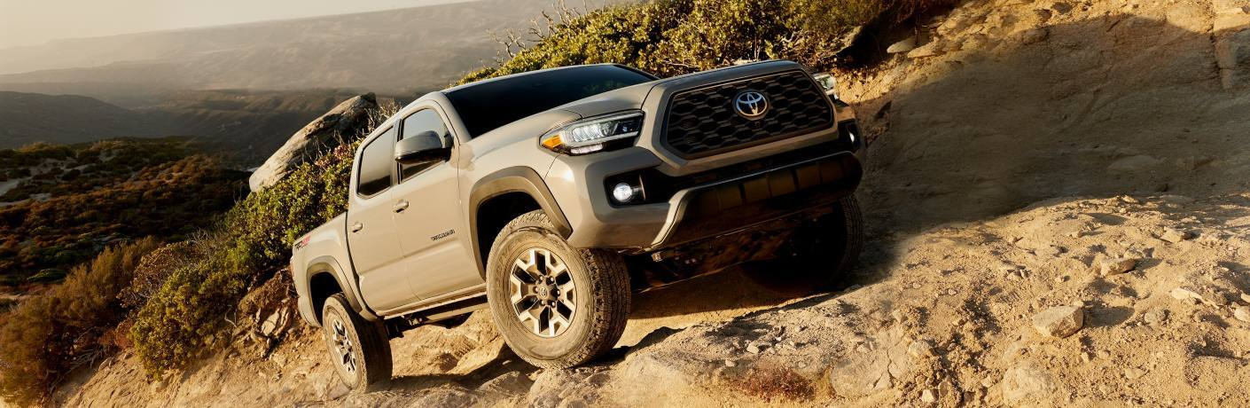 2020 Toyota Tacoma driving up hill