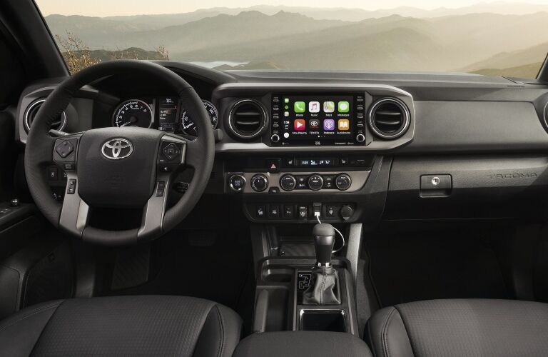 Cockpit view in the 2020 Toyota Tacoma