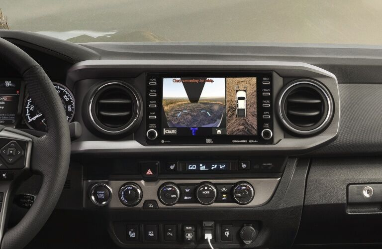 Overhead and rear view cameras in the 2020 Toyota Tacoma