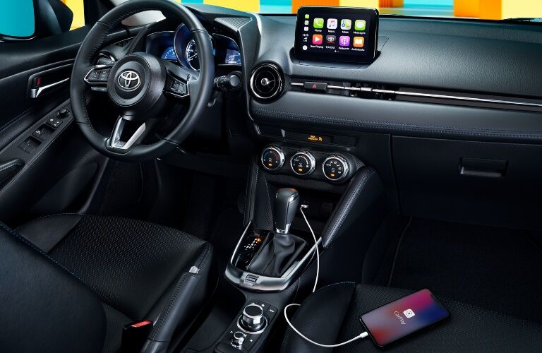 Phone charging in the 2020 Toyota Yaris Hatchback