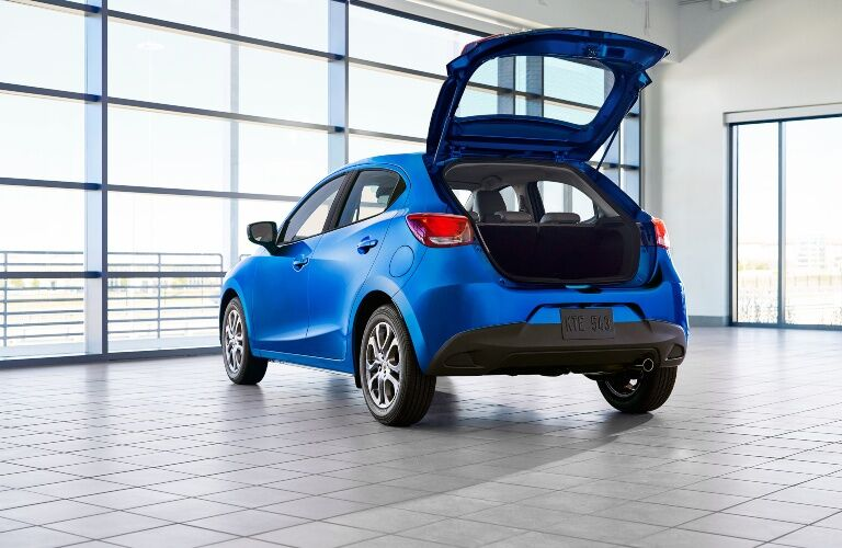 Trunk open in the 2020 Toyota Yaris Hatchback