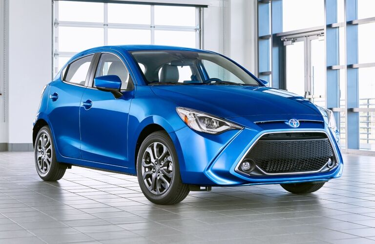 2020 Yaris Hatchback blue front view