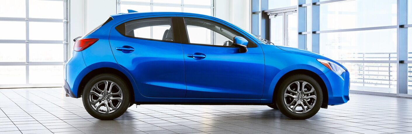 2020 Yaris Hatchback blue side view