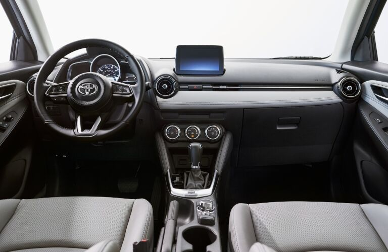 2020 Yaris Hatchback dashboard and steering wheel