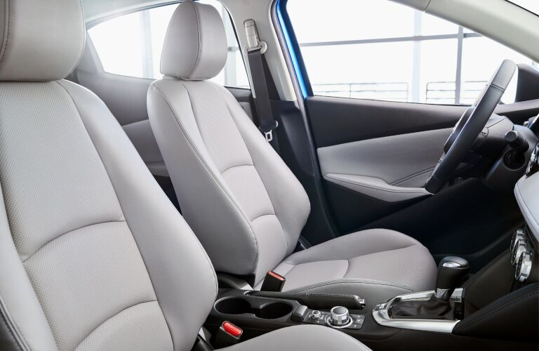 2020 Yaris Hatchback gray front seats