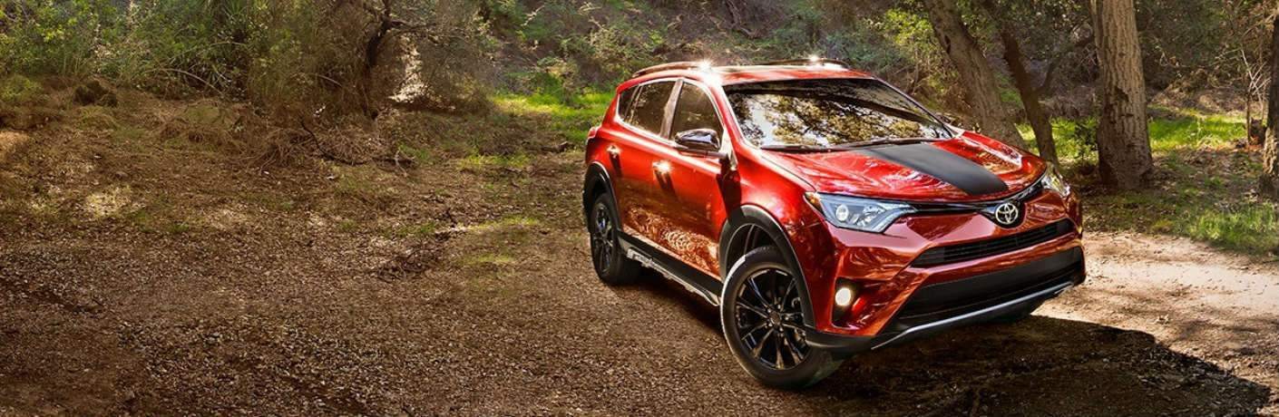 2018 Toyota RAV4 Adventure driving through forest