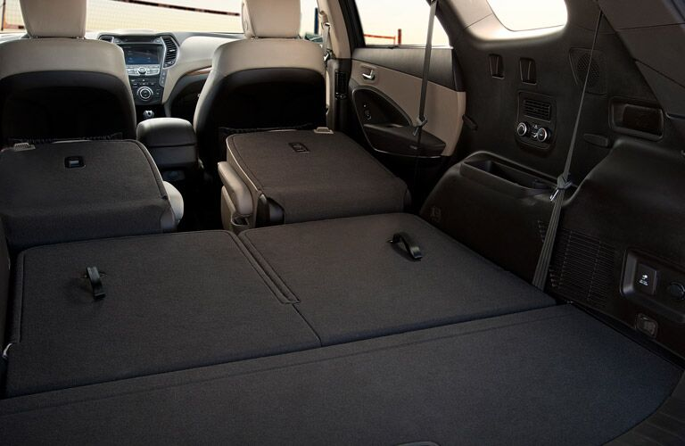 2017 Hyundai Santa Fe Flat Folding Seats