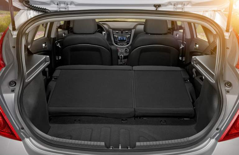 Cargo space in the 2017 Hyundai Accent Hatchback