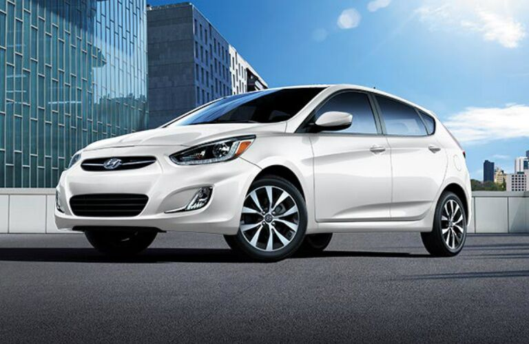 White 2017 Hyundai Accent Hatchback
