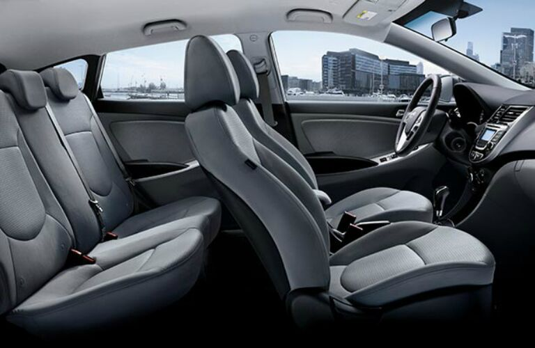 Full interior of the 2017 Hyundai Accent Hatchback