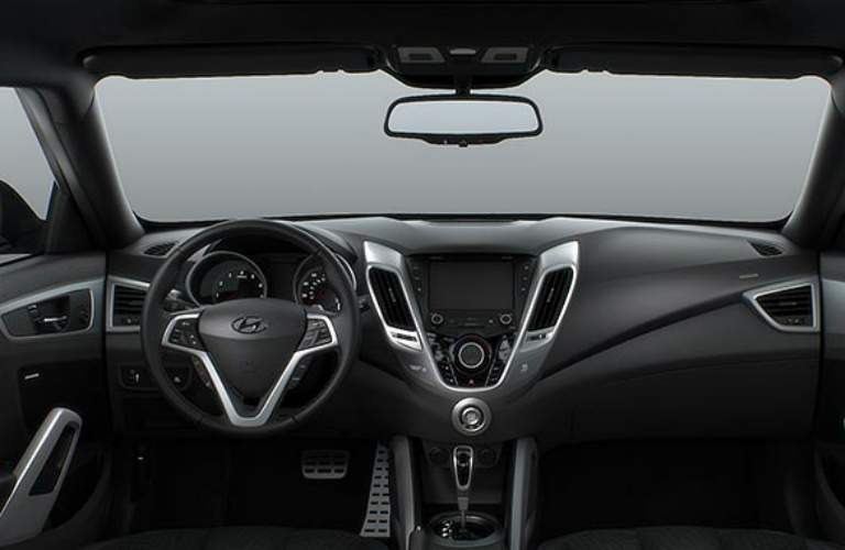 steering wheel and dashboard in the 2017 Hyundai Veloster