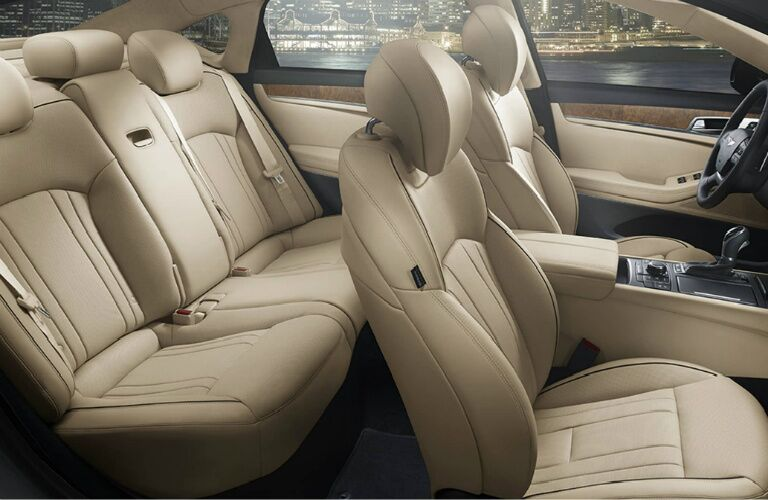 front and rear seats of the 2017 Genesis G80