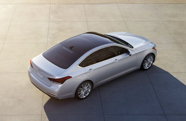 Overhead view of the 2017 Genesis G80