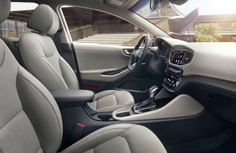 Interior seating of the 2017 Hyundai Ioniq