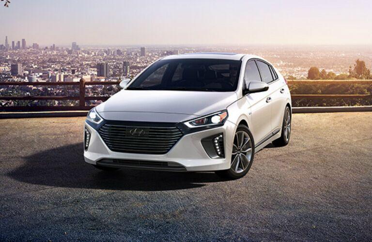 2017 Hyundai Ioniq overlooking city