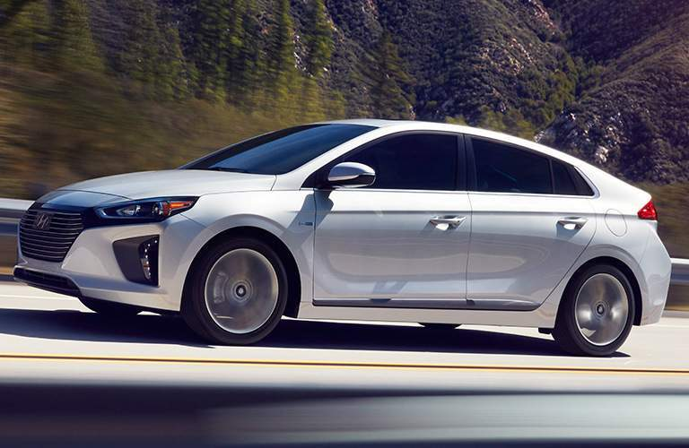2017 Hyundai Ioniq driving on open road