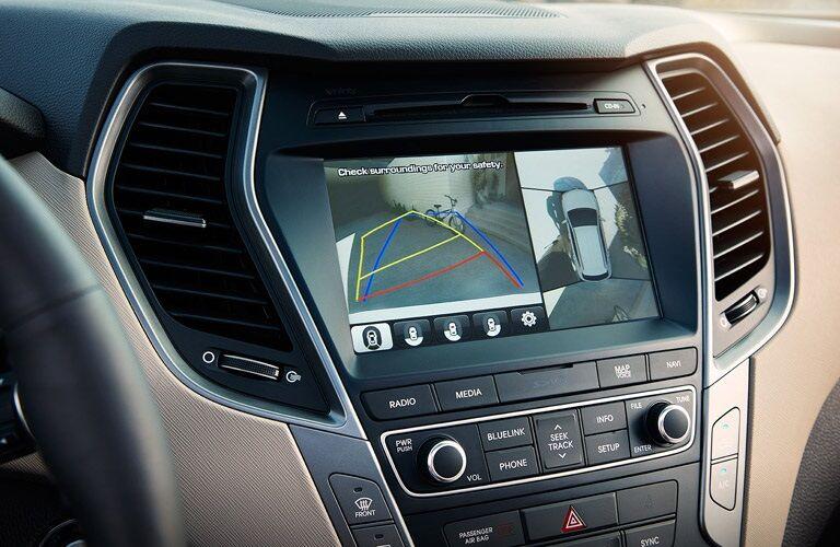 infotainment system in 2017 Hyundai Santa Fe Sport