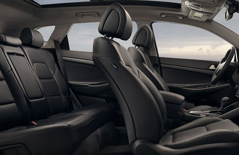 Interior seating of 2017 Hyundai Tucson