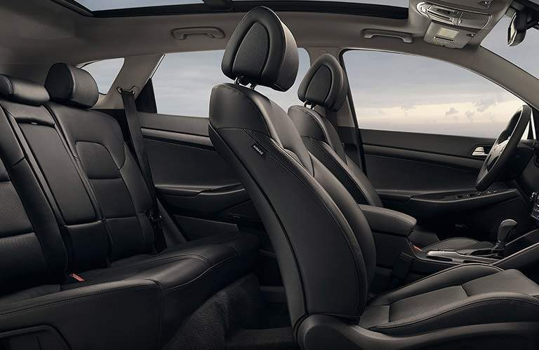 interior seating in the 2017 Hyundai Tucson