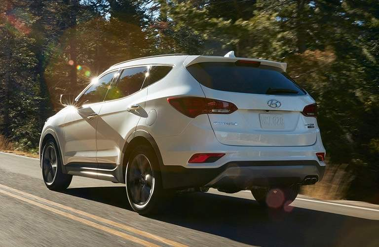 2017 Hyundai Santa Fe Sport driving on open road