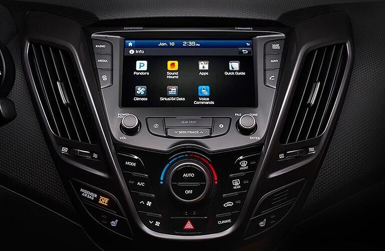 Infotainment system in the 2017 Hyundai Veloster