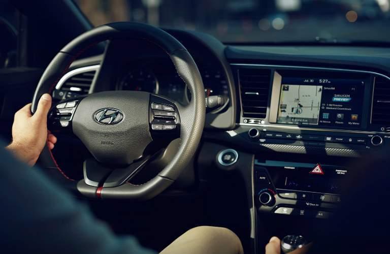 man driving the 2018 Hyundai Elantra