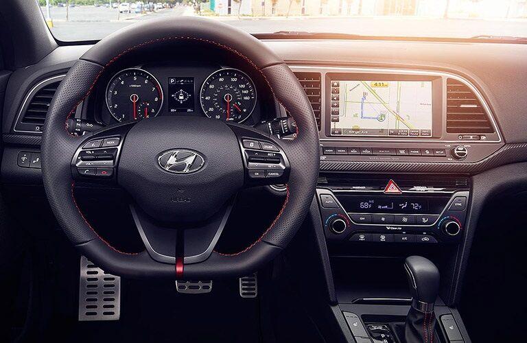 Steering wheel of the 2018 Hyundai Elantra