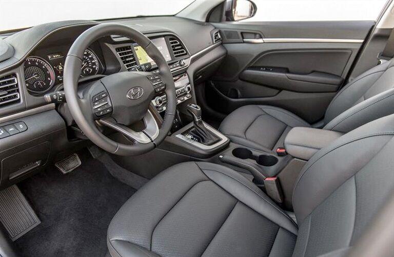 Interior seating in the 2019 Hyundai Elantra