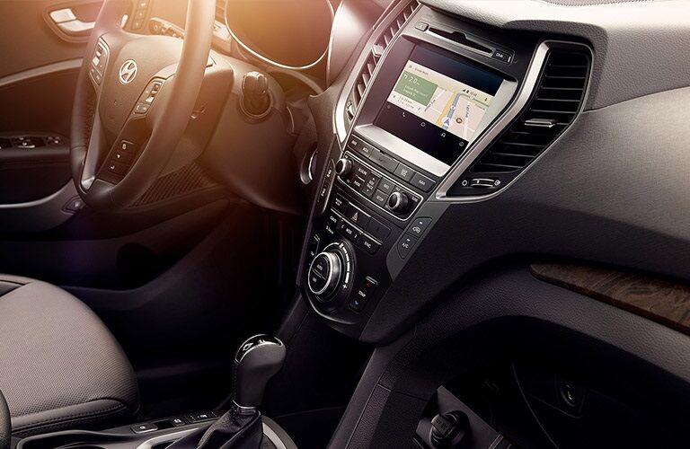 Infotainment system in the 2018 Hyundai Santa Fe