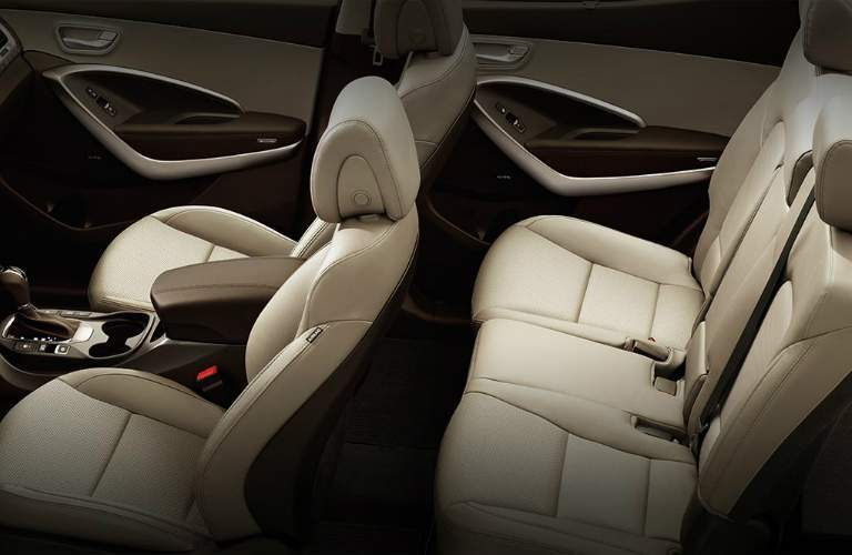 interior seating in the 2018 Hyundai Santa Fe Sport