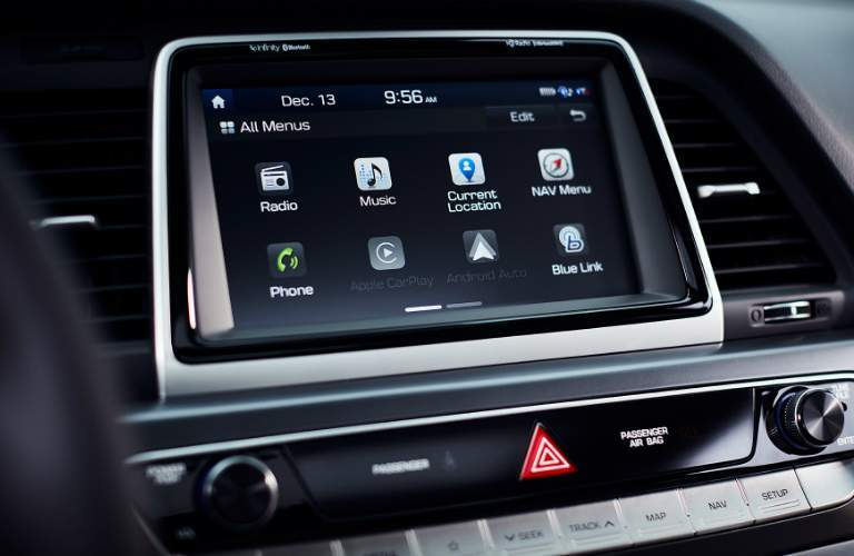 8-inch touchscreen in 2018 Hyundai Sonata