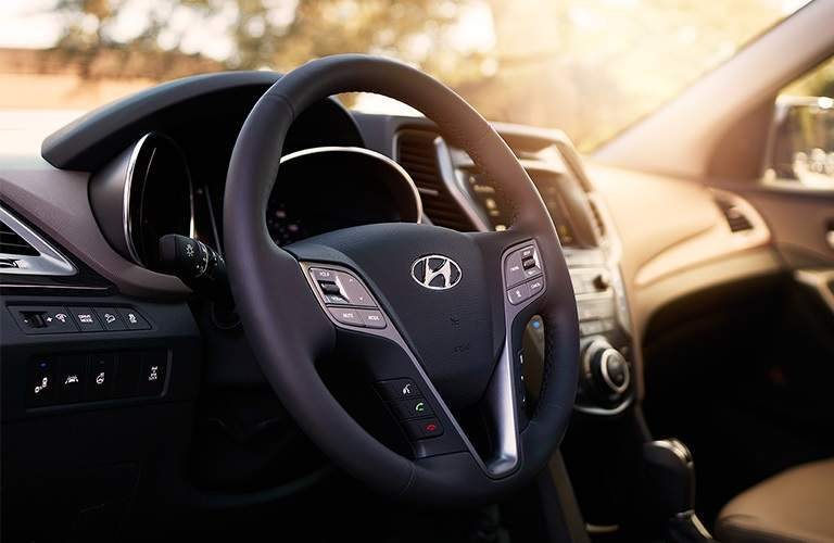 Steering wheel of the 2018 Hyundai Santa Fe Sport