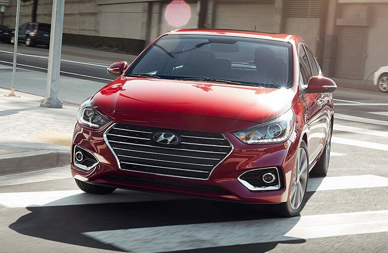 2019 Hyundai Accent making a right turn