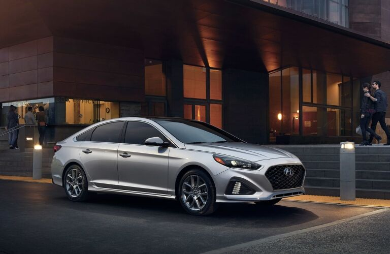 2019 Hyundai Sonata parked outside building